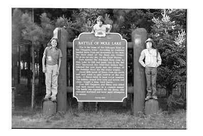 Menominee Boys at  Battle of Mole Lake Historical Marker