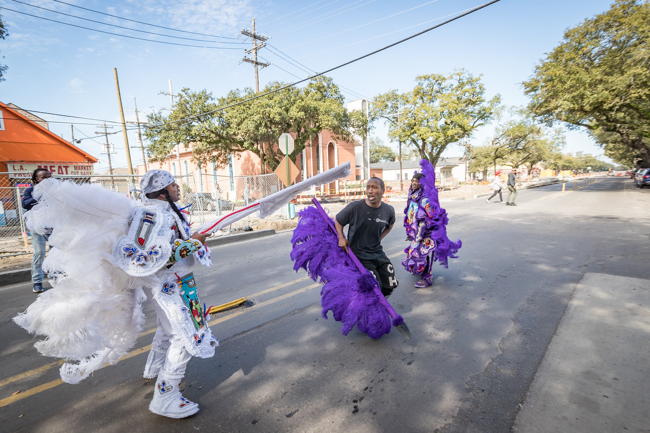 The Julu Parade on Mardi Gras Day 2018 in New Orleans LA