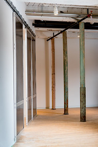 Sliding doors in Building 6 at Mass MoCA, North Adams, MA.