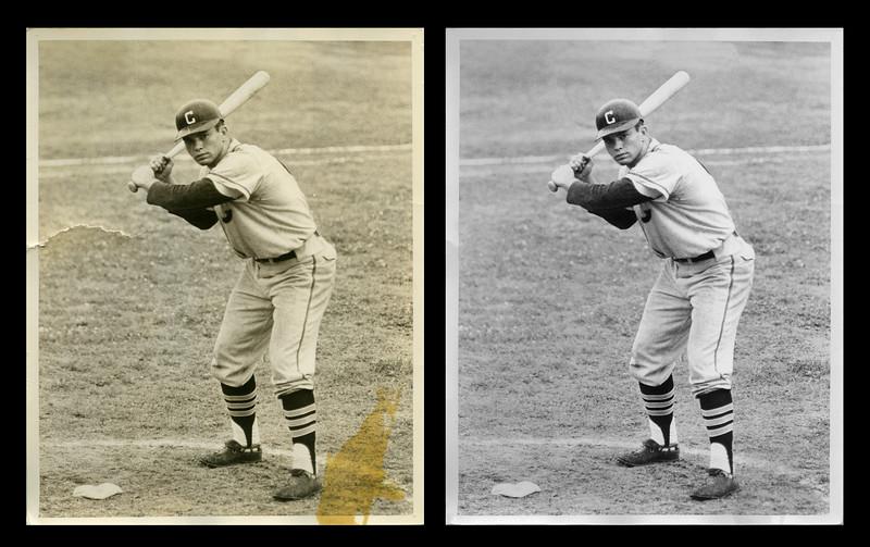 Newman photo restoration