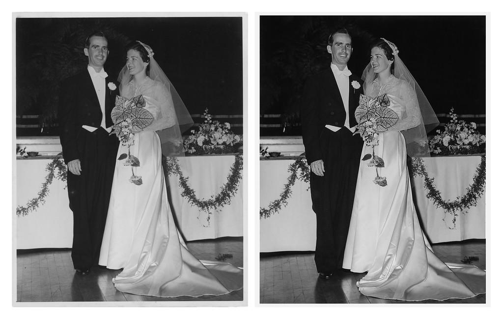 Jean Kalter and John Maguire wedding photo restoraton