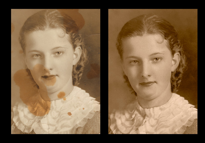Marie Wayman Sullivan Restoration, before and after