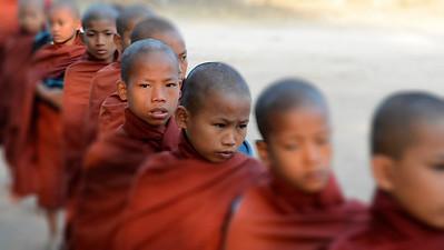 Making Merit; Bagan, Burma