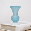 Seaglass Blue Vase Collection - Horn Vase