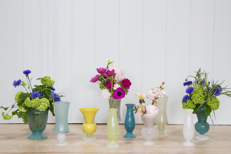 Colored Glass Vase Collection