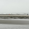Low tide brings out the clam diggers even during a rain storm.  Ft. Stevens State Park, OR.