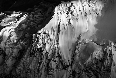 Glacier spines dripping