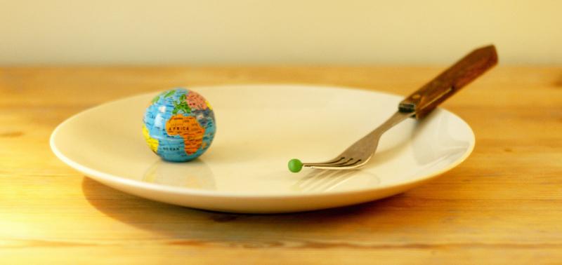 Vestens ekstreme forbruk av kjøtt- og meieriprodukter ødelegger planeten og dreper uskyldige mennesker og dyr. Redd planeten, spis grønt! -- by Andrea Miranda Sand Bruer