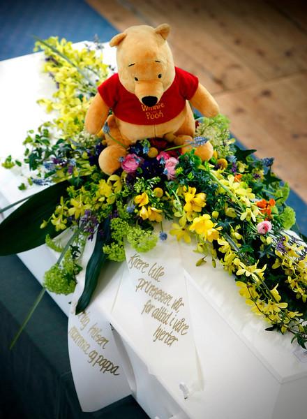 Andrea begraves i Frigstad kirke..