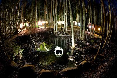 """TH Kittelsens \""""Nøkken\"""" gjenskapt i Betong. Hurdal syn og mestringssenter. En utstilling som gjorde det berømte bildet håndfast slik at man kunne bruke alle sansene for å utforske den   -- by Dhita Siauw"""