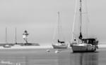 Misty Morning Harbor<br /> Filtered morning light & fog at Grand Marais harbor.
