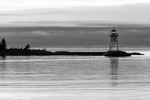 Lighthouse at Dawn<br /> Grand Marais Lighthouse and Harbor at dawn.