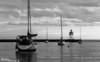 Harbor Dusk<br /> Grand Marais Lighthouse and Harbor at dusk.