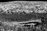 View from Oberg<br /> Infrared treatment of the Sawtooth Range during fall as seen from Oberg Mountain, Superior National Forest, Tofte, Minnesota.