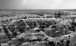 Ancient Seabed III<br /> Badlands National Park, Pine Ridge Reservation viewing one of the many dramatic views of the South Dakota badlands. Over the eons weathering has revealed the sedimentary layes of the ancient seabed tha predominated long ago.