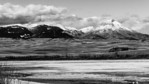 Viewing Ear Mountain & Long Ridge in the Sawtooth Range of the Rocky Mountain Front from Pishkun Reservoir, Augusta, Montana.