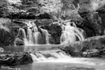 Infrared view of Two Step Falls at Tettegouche State Park, Minnesota.