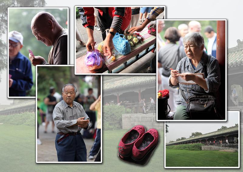 Donderdag 15 september, dag 4         BEIJING Bezoek aan de 'Tempel van de Hemel', gelegen in een schitterend park. Het park rond de tempel wordt dagelijks door honderden Chinezen bezocht. Het is de plaats waar sociale contacten worden onderhouden. Er wordt aan verschillende vormen van tai chi gedaan, evenals zang- en dansbijeenkomsten. We wandelen door een lange gang waar ouderen zitten te kaarten of te handwerken.