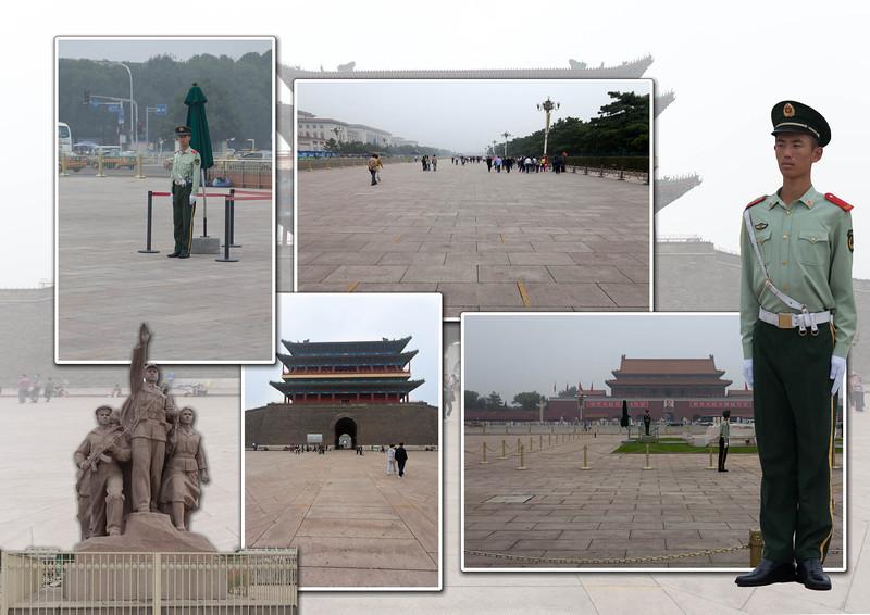 Woensdag 14 september, dag 3         BEJING Bezoek aan het Tian'anmen-plein in Beijing, de grootste open ruimte in zijn soort ter wereld. Er staan veel gebouwen die een grote betekenis hebben voor de Volksrepupliek China.