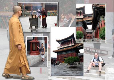 Beijing      Lamatempel Het lamatempelcomplex ten noordwesten van het centrum van de hoofdstad was in eerste instantie de hoofdverblijfplaats van een hoveling. Deze werd in 1742 geïnstalleerd als keizer Yong Zheng en verhuisde overeenkomstig de traditie naar de Verboden Stad. Zijn vroegere huis kreeg nu de naam Yonghe-paleis. Het werd in 1744 een lamaklooster voor de priesters van het lamaïsme (het boeddhisme van Mongolië en Tibet) en is nog steeds de beroemdste tibetaans-boeddhistische tempel buiten Tibet. Sekte van de Geelmutsen beheren de tempel met het 17 m hoog sandelhouten beeld van de 'Boeddha van de toekomst'.