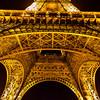 Eiffel Tower Upshot at Night