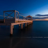 Blue Hour on Garden Beach Hotel 's pier of Juan Les Pins