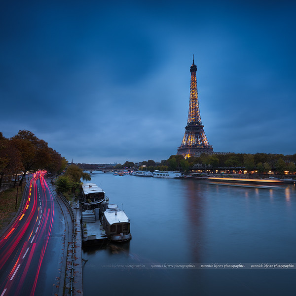 Eiffel Tower from the Bir-Hakeim Bridge