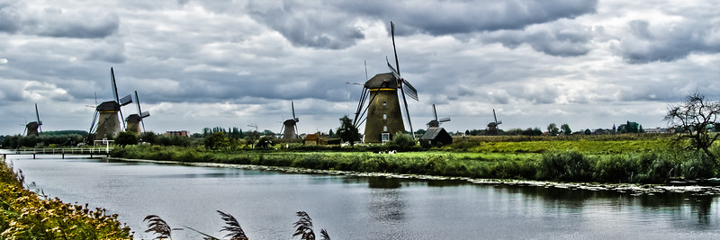 The Mills at Kinderdijk