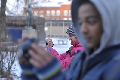 Afaf og Sayid på foto oppdrag sammen med fotograf Knut Bry -- by Knut Bry