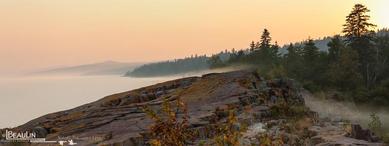 Misty Sawtooth Sundown