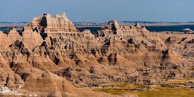 Sedimentary Art Badlands of Pine Ridge Reservation, South Dakota