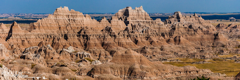 Sedimentary Art II<br /> Badlands of Pine Ridge Reservation, South Dakota.