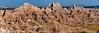 Sedimentary Art II<br /> Badlands of Pine Ridge Reservation, South Dakota.