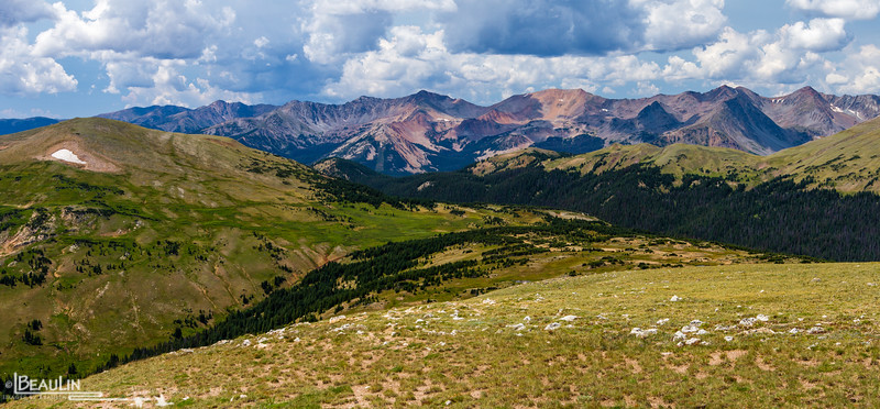 Forest Canyon Pass III<br /> Viewing Forest Canyon Pass and the Never Summer Subrange of Colorado's northern front range from the Ute Trail along Trail Ridge in Rocky Mountain National Park.
