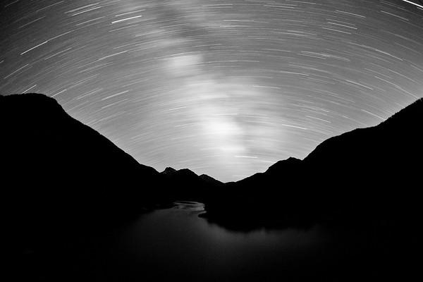 still water star trail