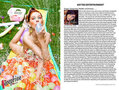 Editorial shoot for My Inception Magazine issue 3 | MUA/Hairstylist: Kim | Model: Kaytee.