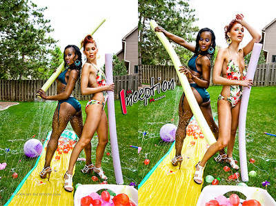 Editorial shoot for My Inception Magazine | MUA/Hairstylist: Kim | Model: Kaytee & Gabbie.