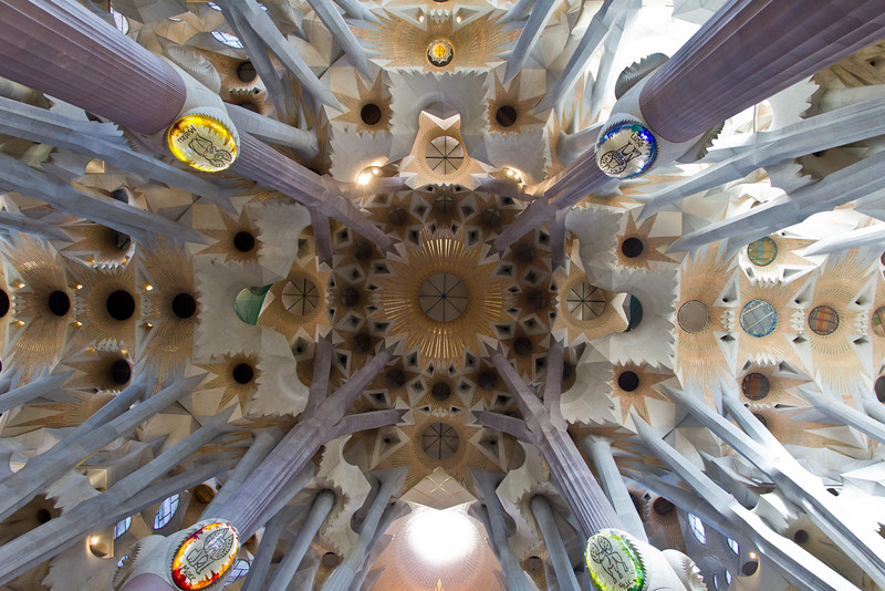 Ceiling, Sagrada Família