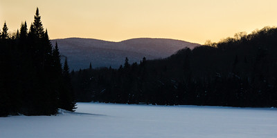 Winter Lake, Sunset