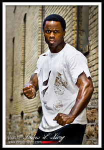 Model: Tyrone; Concept: Alley fight--fist of fury, inspired by my love for martial arts.