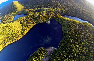 Сказочные красота озер на Снежной