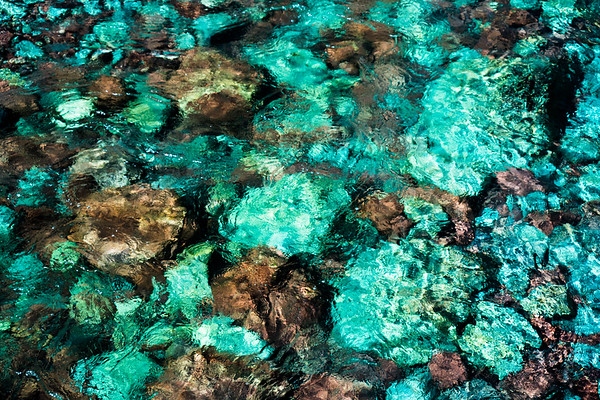 colorful stones clear water