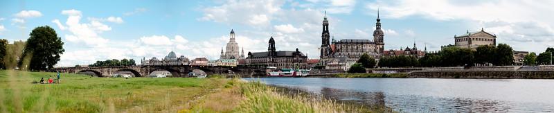 Elbe Altstadt Panorama