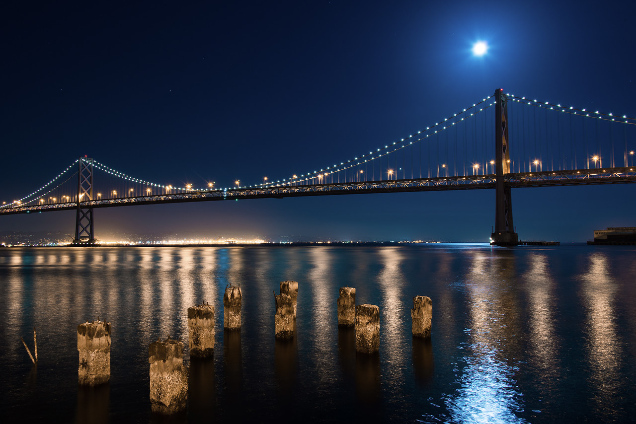 View of Bay Bridge from the Embarcadero
