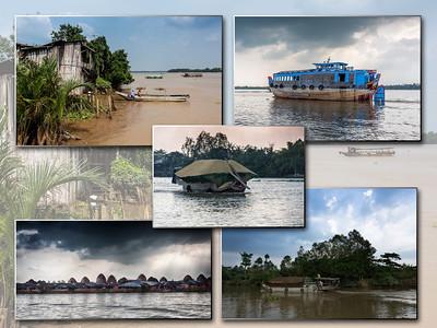 we varen verder op de Mekong