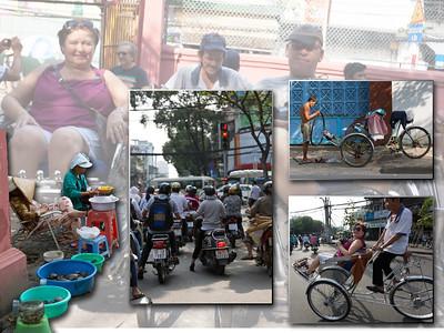 Ho Chi Minh : per fietstaxi of tuk-tuk door het verkeer
