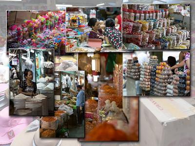 Ho Chi Minh : Binh Tay in de Cholon wijk; de grootste overdekte markt van Saigon