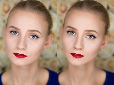 До и после ретуши. Ретушь - 250 рублей