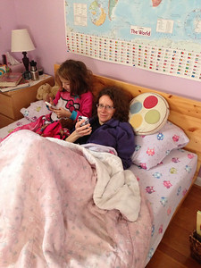 2013-01-10 morning bedtime on the phone