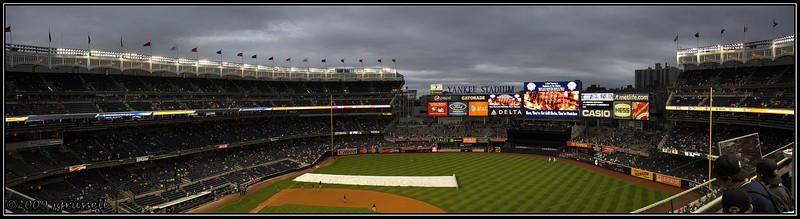 Panorama of new Yankee Stadium